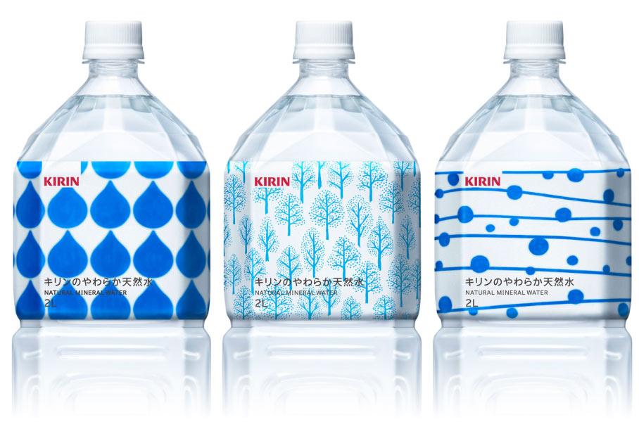 キリンのやわらか天然水パッケージデザイン画像