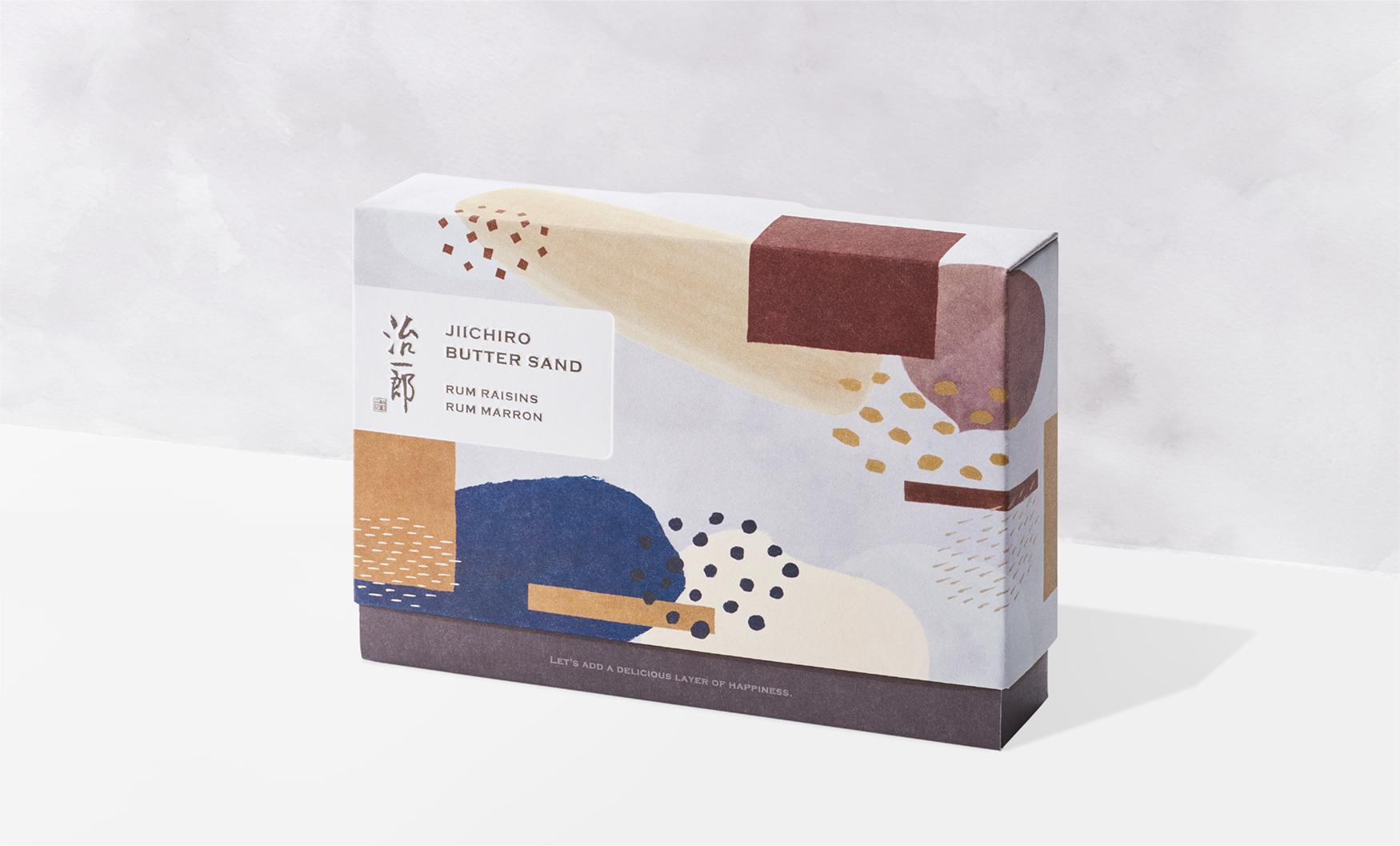治一郎お菓子のパッケージデザイン画像